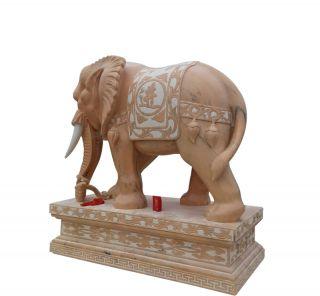 晚霞红大象石_广场园林动物景观石雕