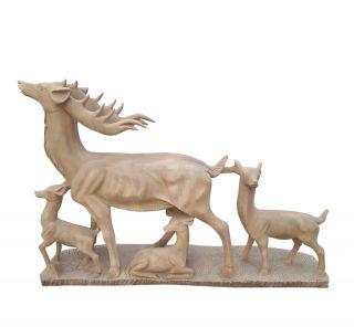 晚霞红小鹿_园林公园动物鹿雕塑