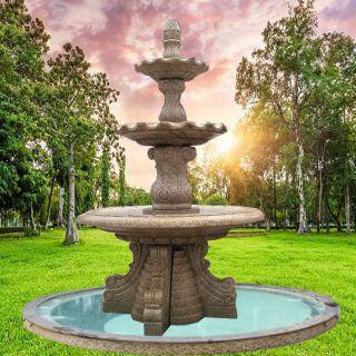 欧式流水喷泉_庭院园林大理石园林喷水池