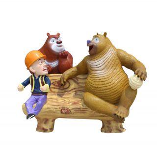 熊出没座椅_景区公园创意座椅景观