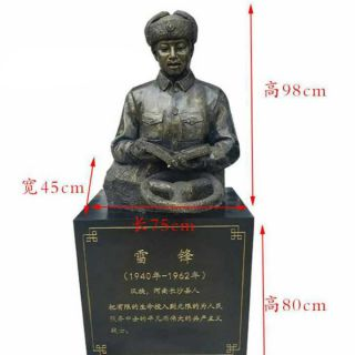 雷锋半身铜雕像_校园文化人物塑像