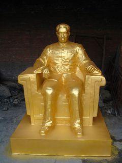 鎏金周总理坐像