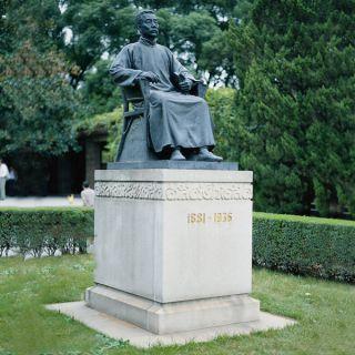 鲁迅铜雕像_城市公园校园景观雕像