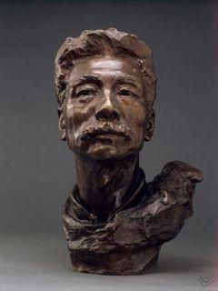 鲁迅先生头像_名人铸铜艺术雕像