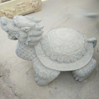 大理石龙龟雕塑风水神兽石雕