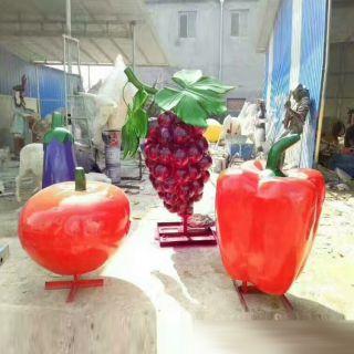 番茄葡萄雕塑玻璃钢仿真蔬菜水果雕塑