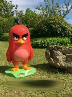 愤怒的小鸟玻璃钢卡通雕塑