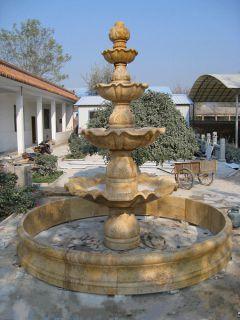 公园石喷泉跌水盆石雕