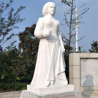 汉白玉南丁格尔名人石雕