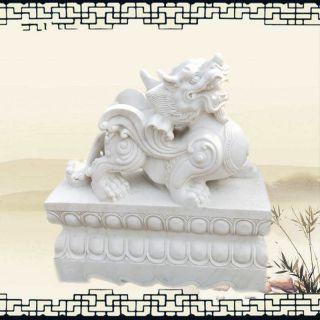 汉白玉貔貅招财貔貅石雕