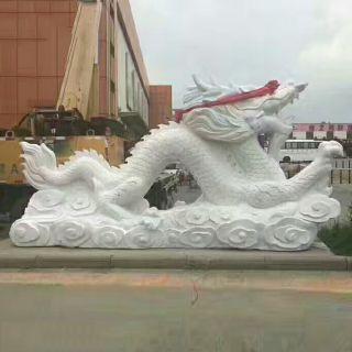 汉白玉龙广场神龙石雕