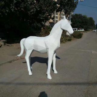 几何马雕塑玻璃钢抽象马