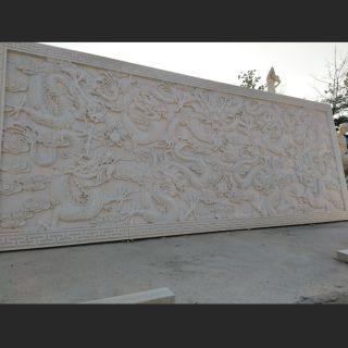 九龙石浮雕广场大理石浮雕
