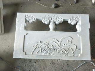 兰花石浮雕栏板汉白玉栏板