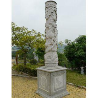 马浮雕柱子十二生肖柱子