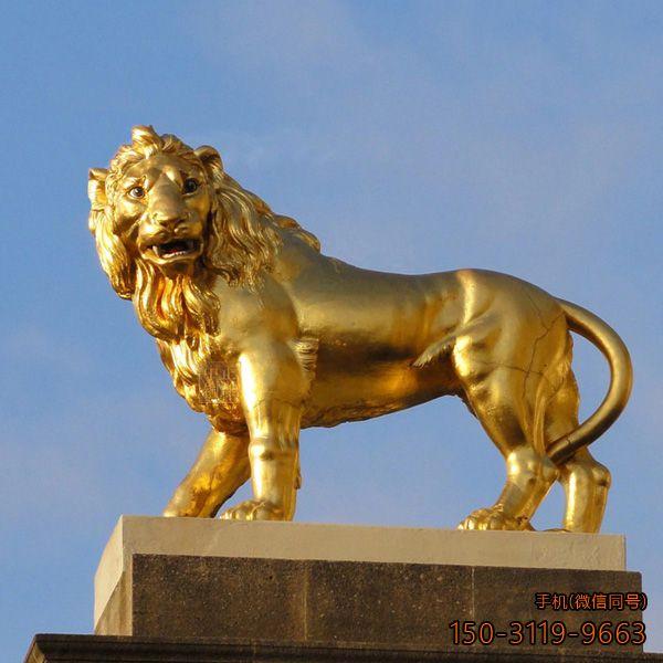 西洋镇宅铜雕狮子