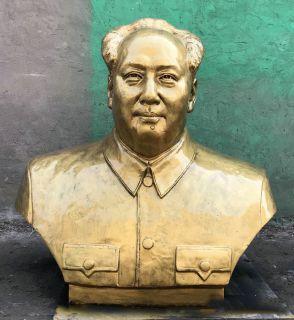 毛主席铸铜头像