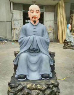彩绘名医叶天士铜雕像