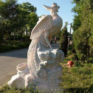 汉白玉凤凰景观石雕