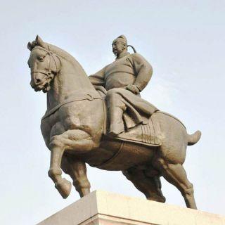 大唐盛世的开创者——唐太宗雕像