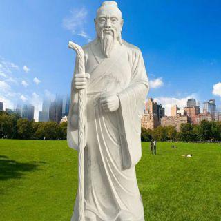 汉白玉扁鹊石雕像