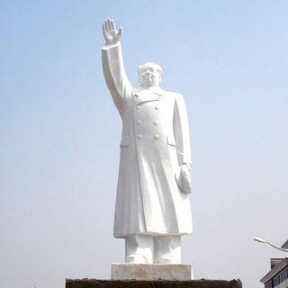 挥手的毛主席汉白玉石雕像