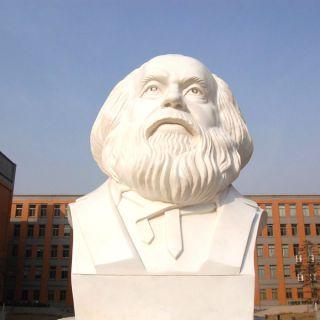 世界伟人马克思石雕像
