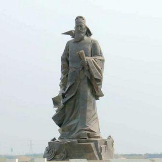 唐代山水田园诗人孟浩然石雕像