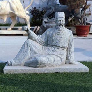 唐代著名诗人李白石雕像