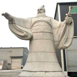 枭雄曹操霸气石雕像