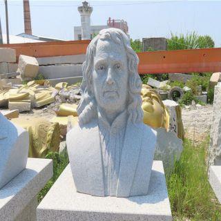 伟大的物理学家牛顿石雕头像