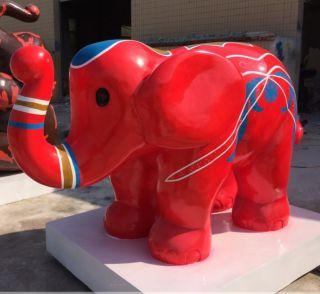 玻璃钢大象_幼儿园动物摆件