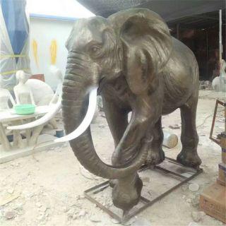 仿真大象_玻璃钢城市广场动物