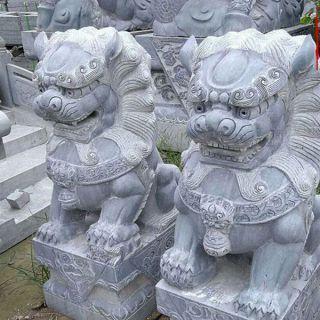 仿古石狮子_小区企业大门动物北京狮子