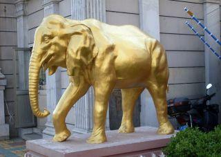 大象铜雕_城市广场动物雕塑
