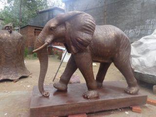 大象铜雕_公园广场动物雕塑