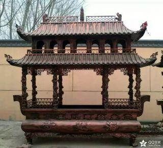 方形两层香炉_景区寺庙宗教雕塑