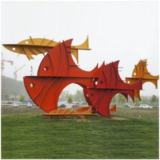 抽象鱼_公园园林景区装饰构件