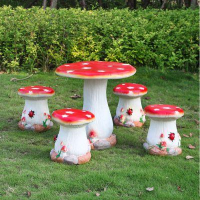 蘑菇圆桌凳_少儿防碰桌凳
