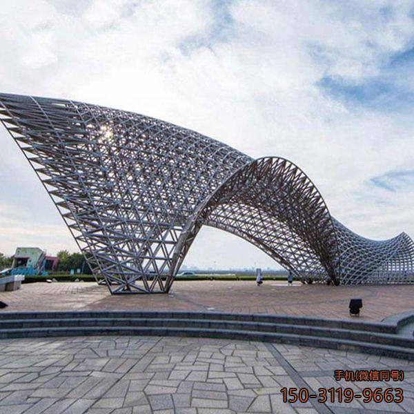 广场不锈钢网景观雕塑