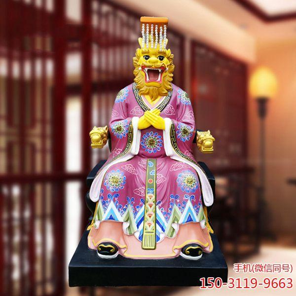 四海龙王雕塑_玻璃钢彩绘东西南北海龙王塑像龙王爷神像