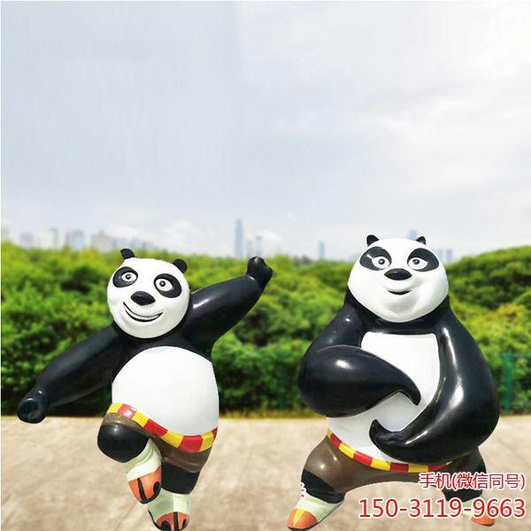 功夫熊猫_户外园林景观卡通人物雕塑 (1)