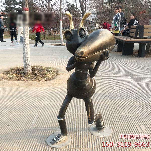 蚂蚁铜雕_城市园林景观摆件卡通蚂蚁雕塑 (1)