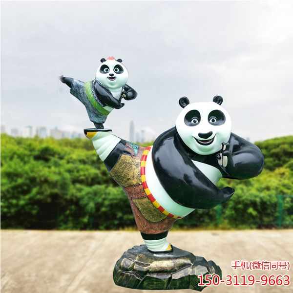 功夫熊猫_户外园林景观卡通人物雕塑 (2)