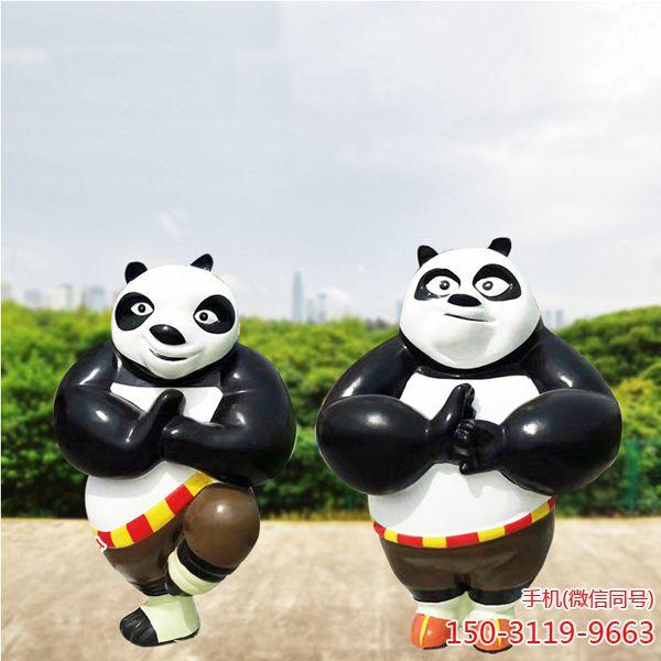 功夫熊猫_户外园林景观卡通人物雕塑 (3)