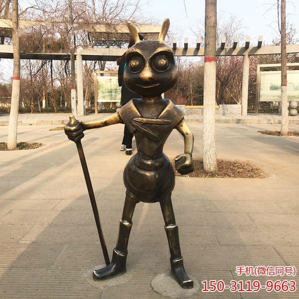 蚂蚁铜雕_城市园林景观摆件卡通蚂蚁雕塑 (2)