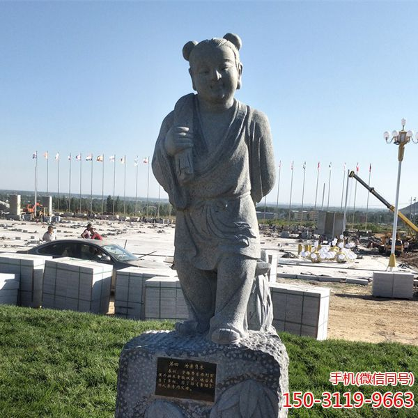 百里负米_二十四孝人物石雕塑像