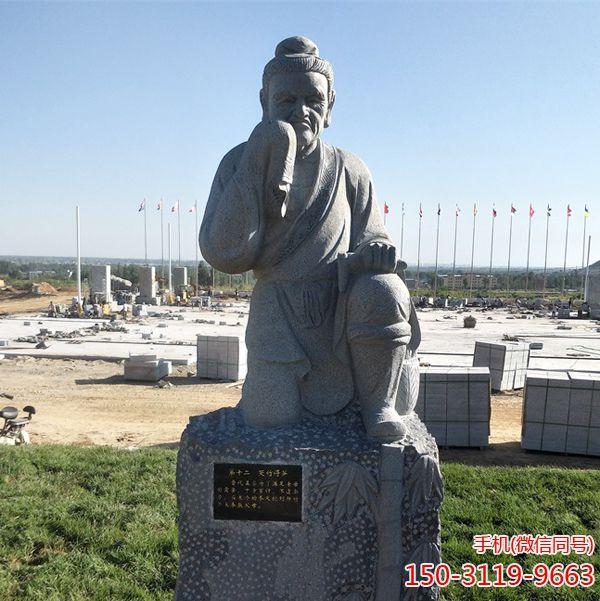 哭竹生笋_二十四孝人物石雕塑像