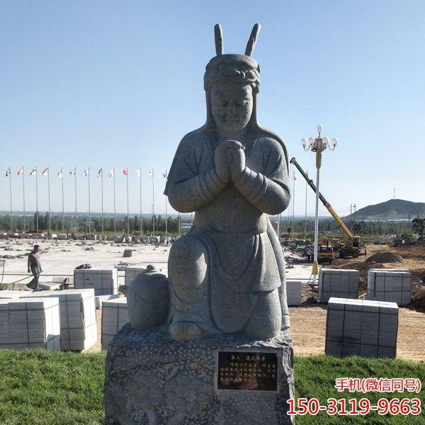 鹿乳奉亲_二十四孝人物石雕塑像