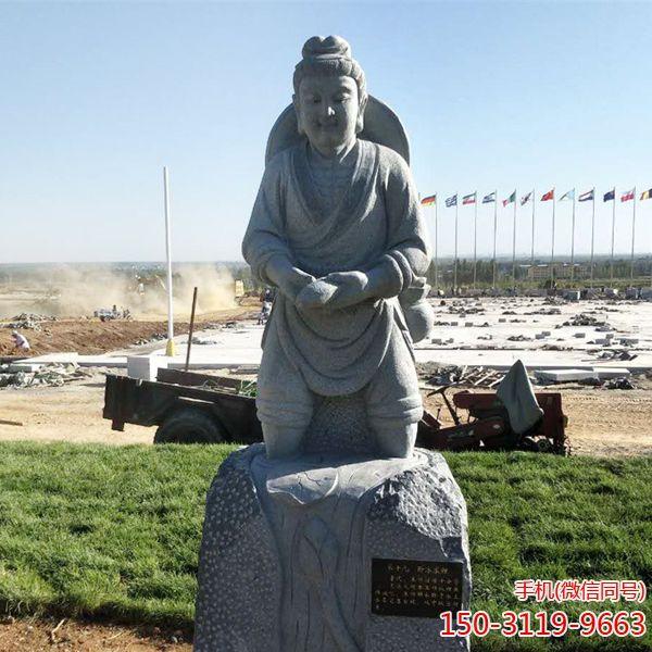 卧冰求鲤_二十四孝人物石雕塑像